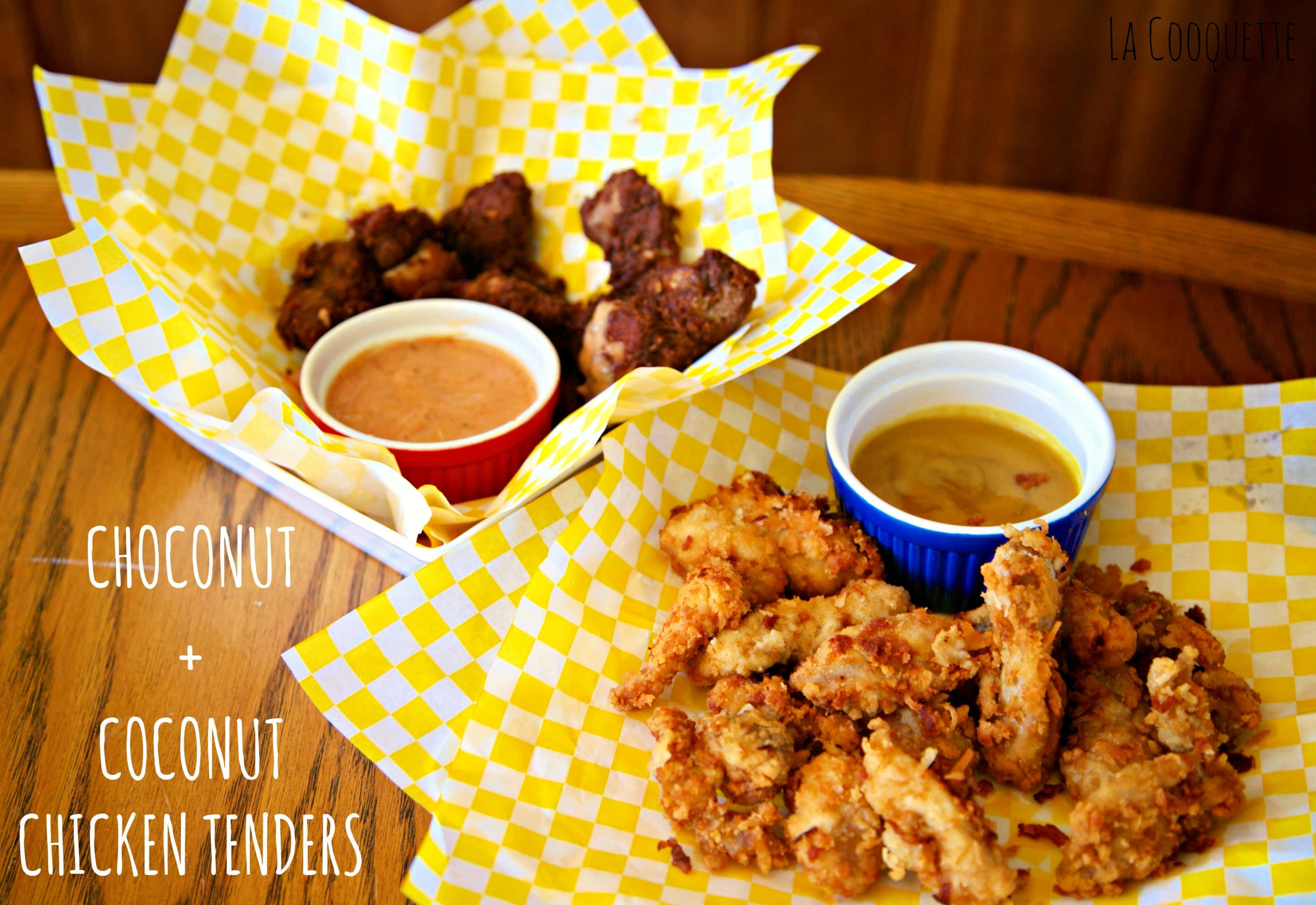 """Choconut"" Chocolate Chicken Strips + Coconut Chicken Strips"
