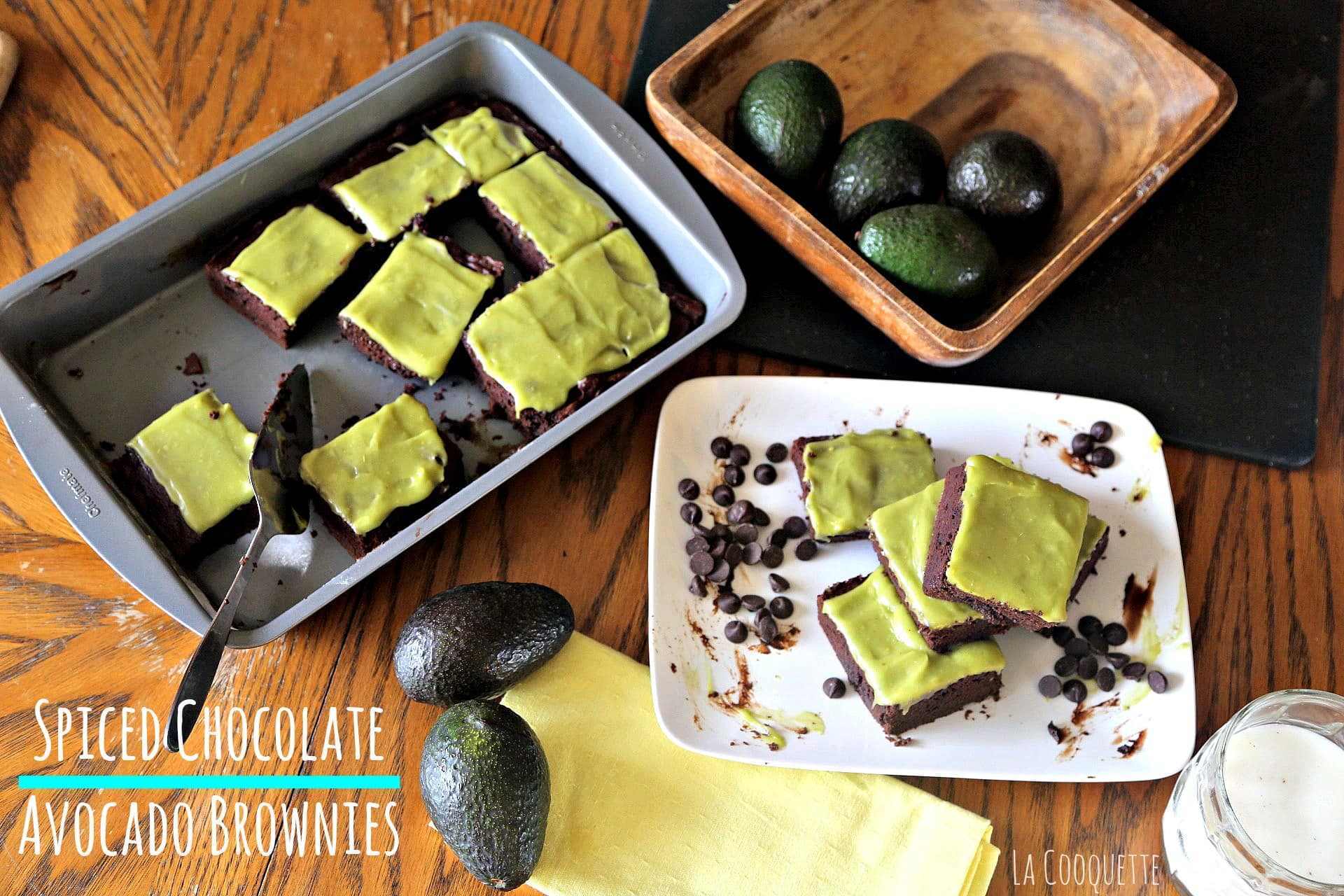 Spiced Chocolate Avocado Brownies
