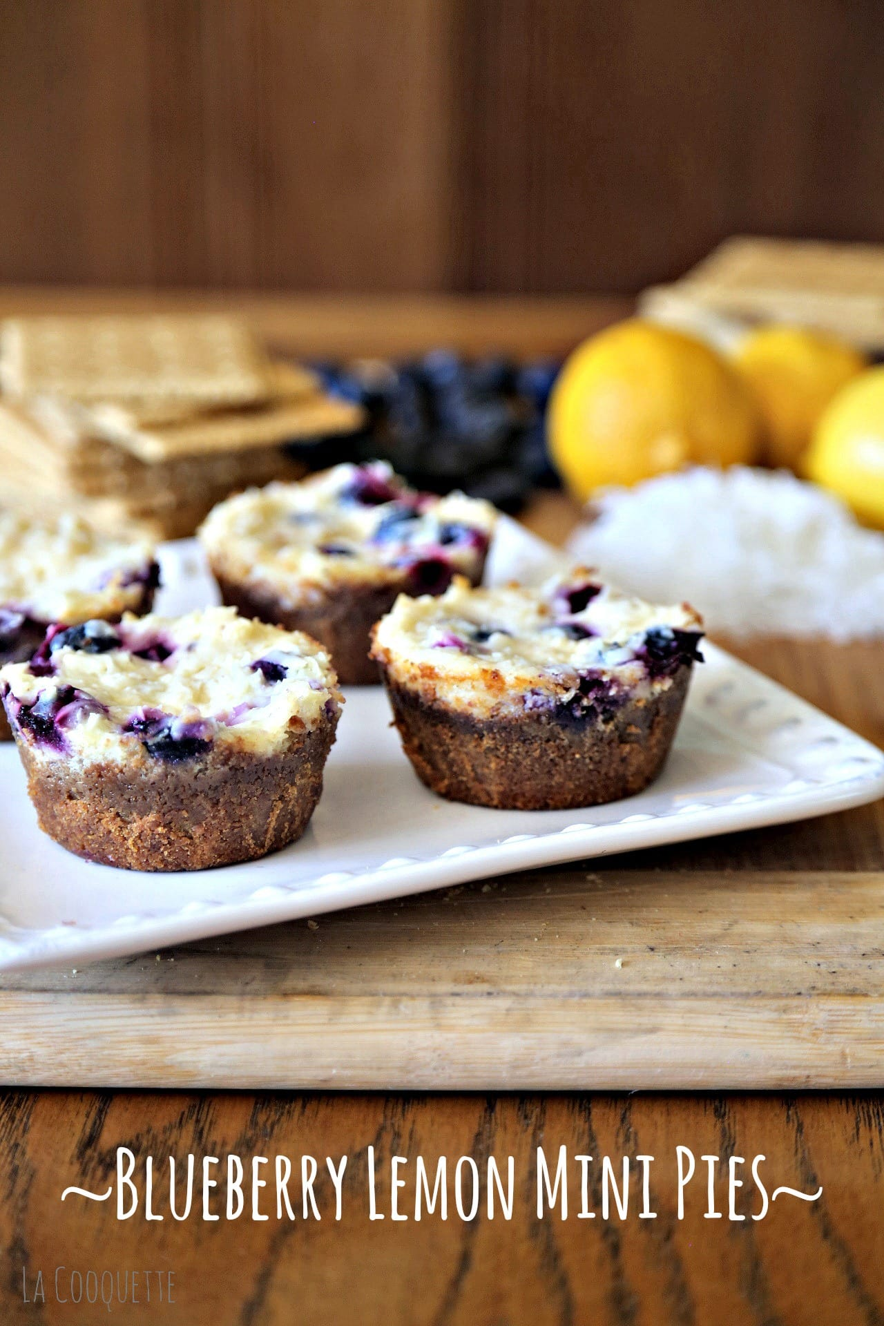 Blueberry Lemon Mini Pies