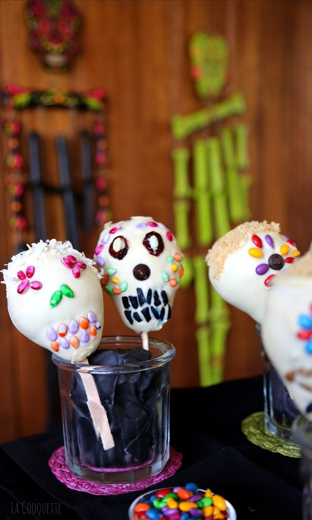 Peras Calaveras de Chocolate - recetas Día de Muertos y Halloween - La Cooquette