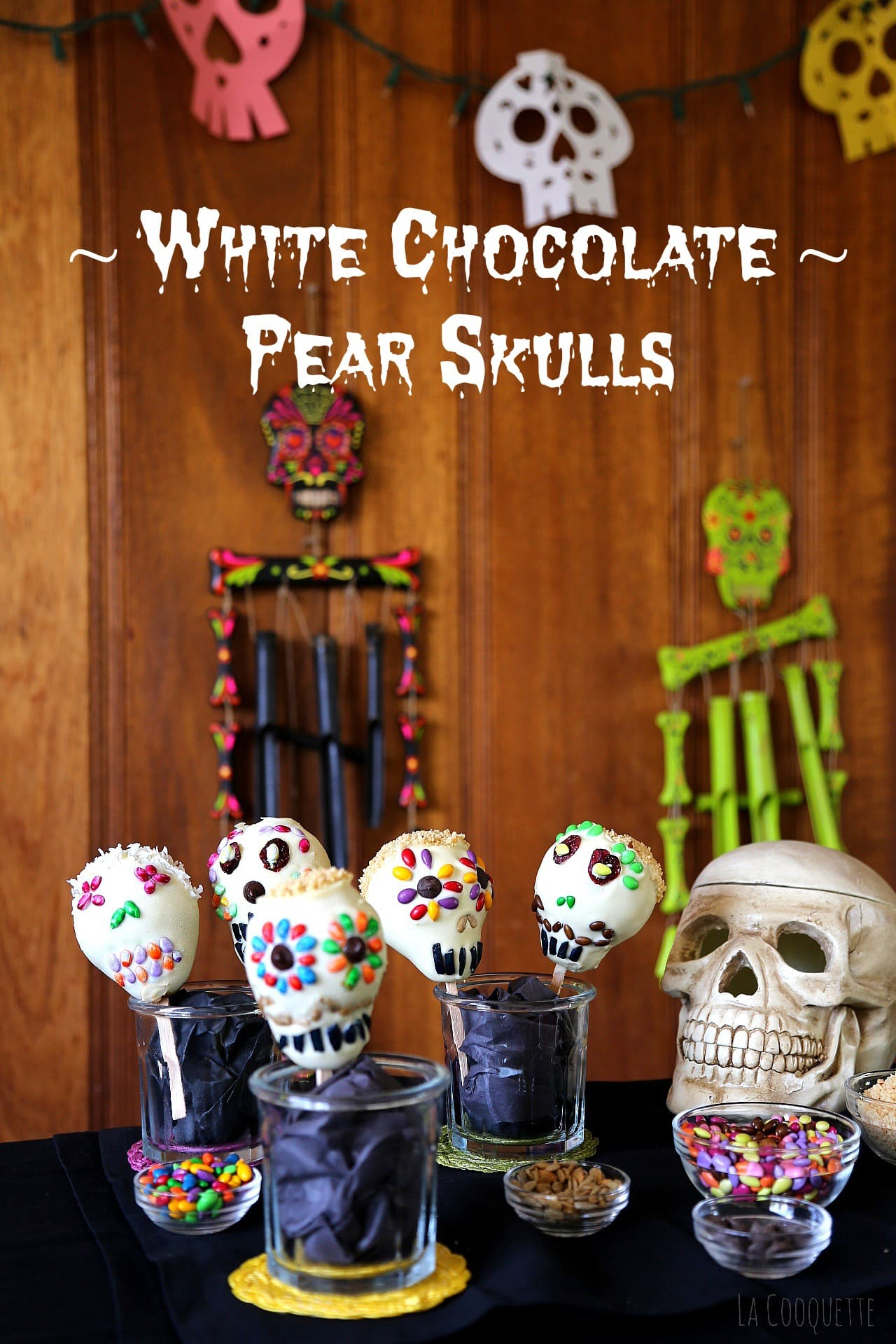White Chocolate Pear Skulls – Halloween Recipe