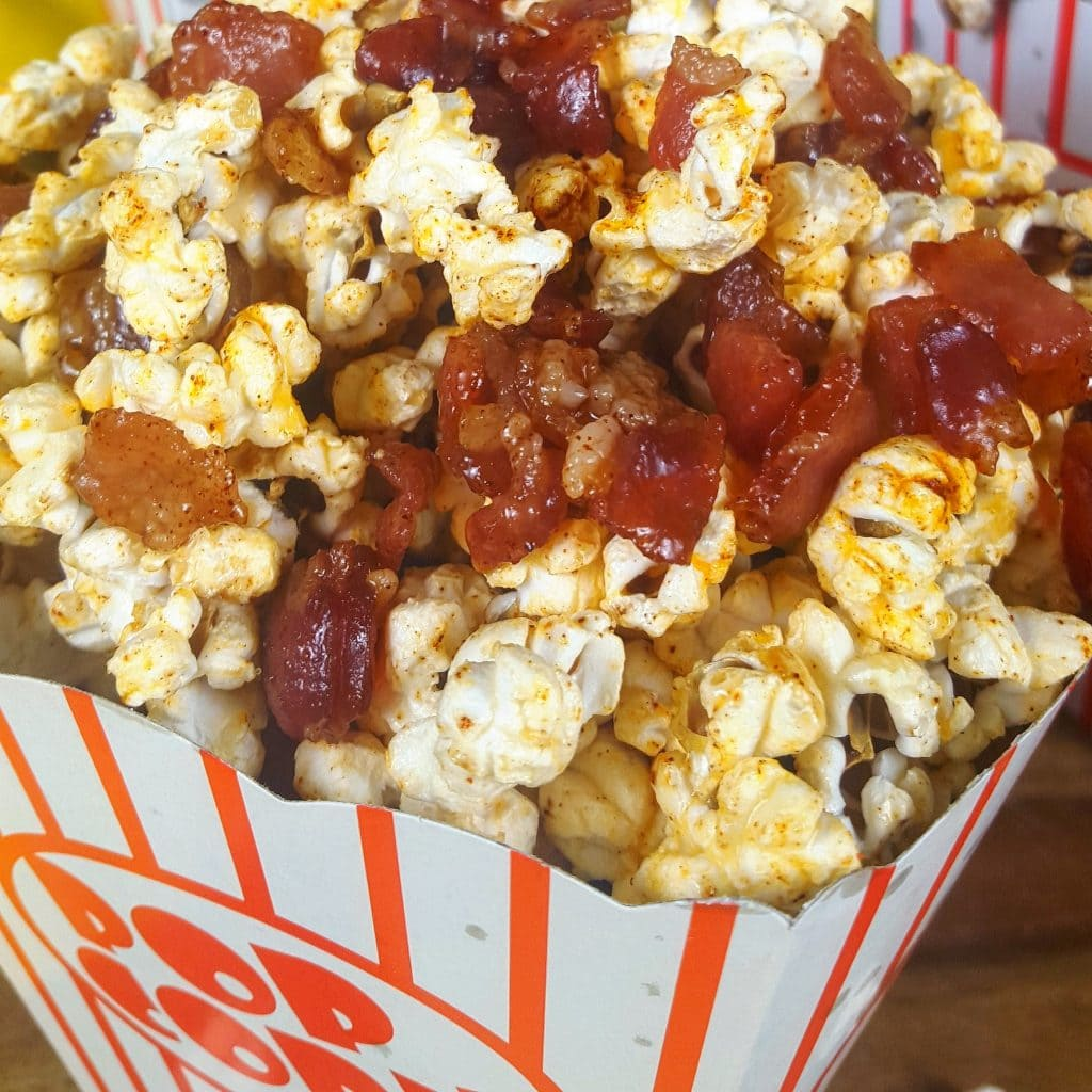Flavored Popcorn 5 Ways Bacon Popcorn - La Cooquette