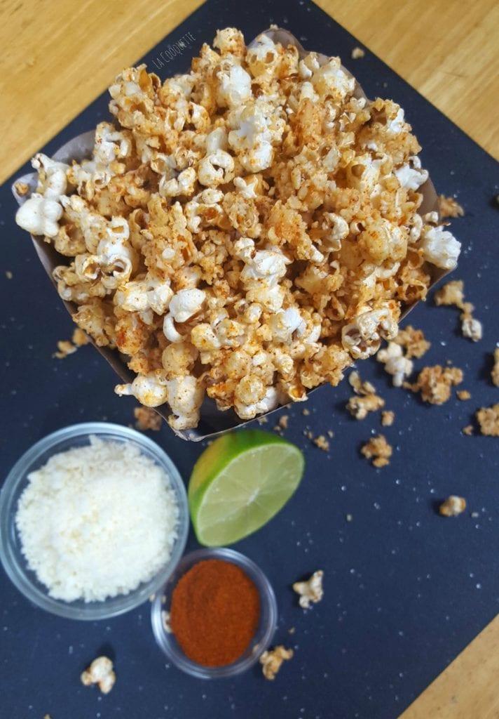 Flavored Popcorn 5 Ways Elote Popcorn - La Cooquette