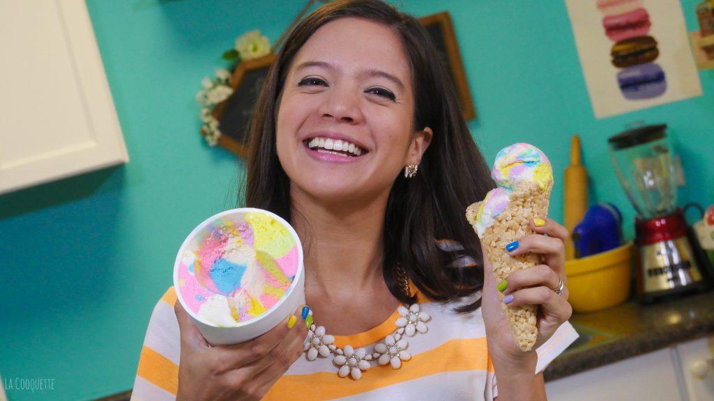 Rainbow Ice Cream - La Cooquette – no churn ice cream, no machine needed!